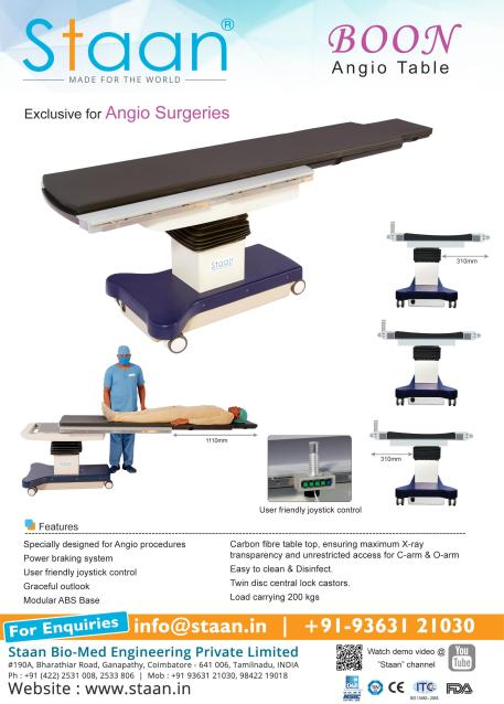 Boon – Staan Angiogram Table